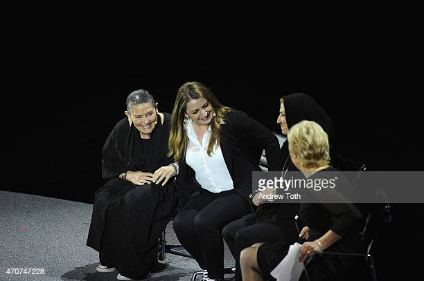 Robi Damelin Tima Rabie Bushra Awad and Tina Brown appear onstage during the Women In World Summit at the David H Koch Theater at Lincoln Center on...