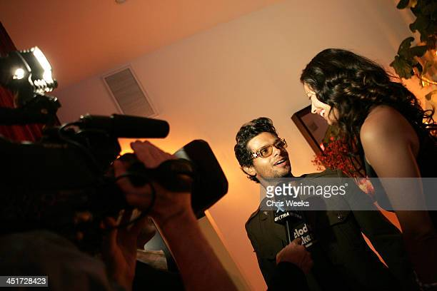 Robi Draco Rosa and Angela Alvarado Rosa during Latin Grammy After Party Hosted by Robi Draco Rosa at Private Residence in Beverly Hills California...