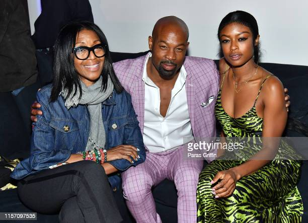 LOS Robi Reed Darrin Dewitt Henson and Javicia Leslie attend PREMIX Hosted By Connie Orlando at The Sunset Room on June 19 2019 in Los Angeles...