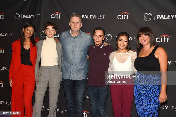 Robia Rashid Brigette LundyPaine Michael Rapaport Keir Gilchrist Amy Okuda and Mary Rohlich from Netflix's 'Atypical' attend The Paley Center for...
