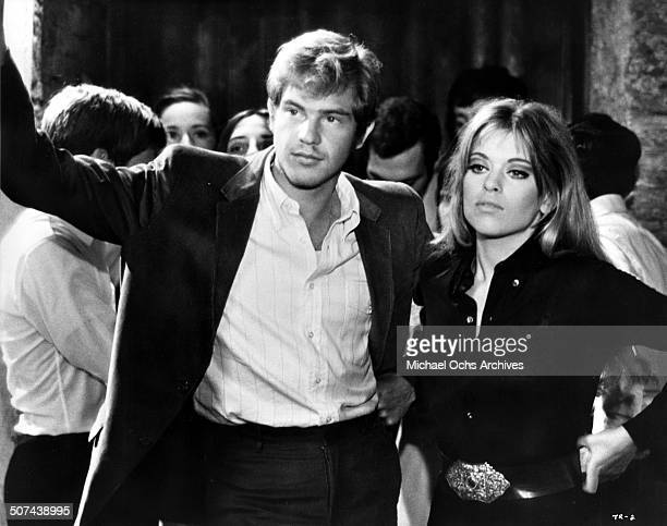 Robie Porter and Edina Ronay have a casual date in a scene for the movie Three circa 1967