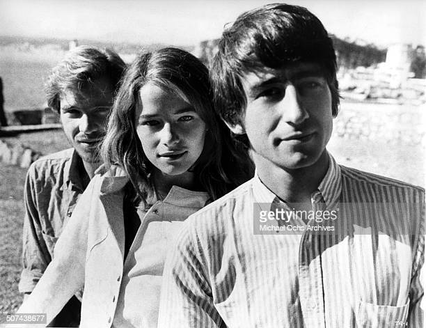 Robie Porter as Bert, Charlotte Rampling as Marty and Sam Waterston as Taylor play three college students wandering through Europe, pose for the...