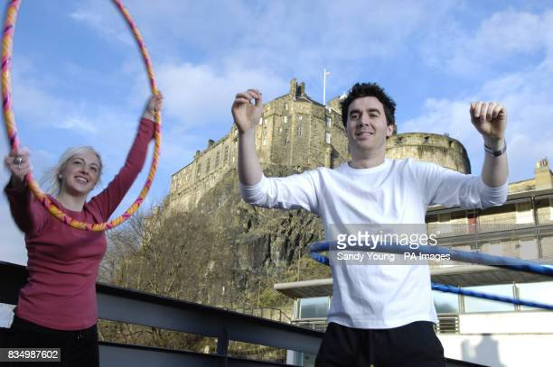 RobiesonCleaver and Matt Roe from Edinburgh's Dance Base host a hulahooping class to celebrate the 1billion of Lottery funding that has gone to...
