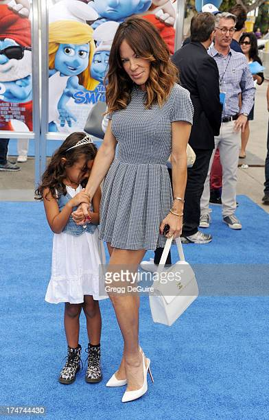 Robin Antin arrives at the Los Angeles premiere of 'Smurfs 2' at Regency Village Theatre on July 28 2013 in Westwood California