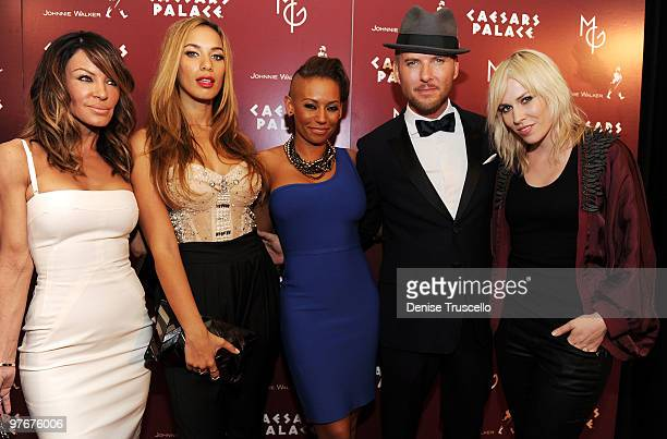 Robin Antin Leona Lewis Mel B Matt Goss and Natasha Bedingfield arrive at Matt Goss' debut performance at Caesars Palace on March 12 2010 in Las...