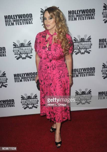 Robin Arcuri attends the 17th Annual Hollywood Reel Independent Film Festival Award Ceremony Red Carpet Event held at Regal Cinemas LA LIVE Stadium...