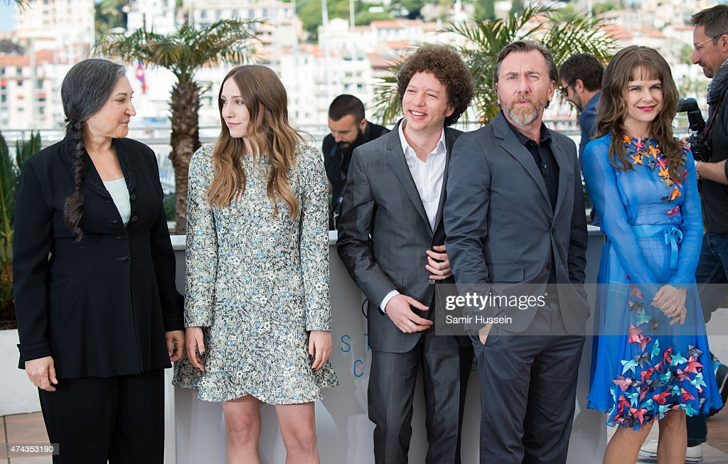 Robin Bartlett, Sarah Sutherland, Michael Franco, Tim Roth and Nailea Norvind attend the 'Chronic' Photocall during the 68th annual Cannes Film Festival on May 22, 2015 in Cannes, France.