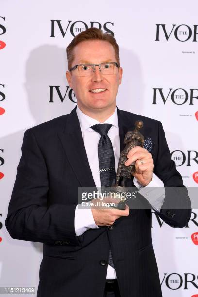Robin Beanland wins the Ivor Novello Award for Best Original Video Game Score at The Ivors 2019 at Grosvenor House on May 23, 2019 in London, England.