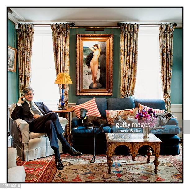 Robin Birley is photographed for Vanity Fair Magazine on June 11 2012 in 5 Hertford Street which is home to his nightclub Loulou's in London England
