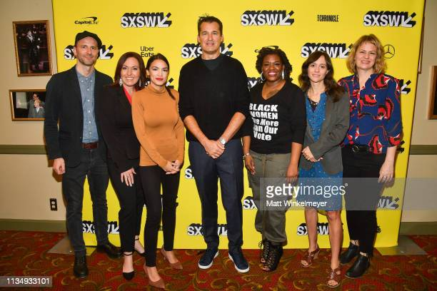 Robin Blotnick Amy Vilela Alexandria OcasioCortez Scott Stuber Cori Bush Rachel Lears Sarah Olson attend the 'Knock Down The House' Premiere 2019...