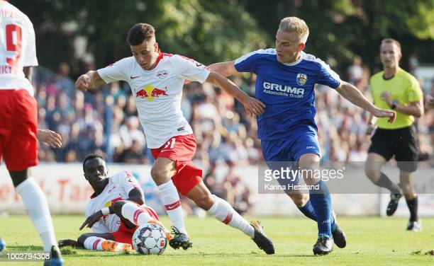 Headcoach Ralf Rangnick of Leipzig reacts during the Pre Season Friendly Match between FC Grimma and RB Leipzig at Stadium of friendship on July 20...