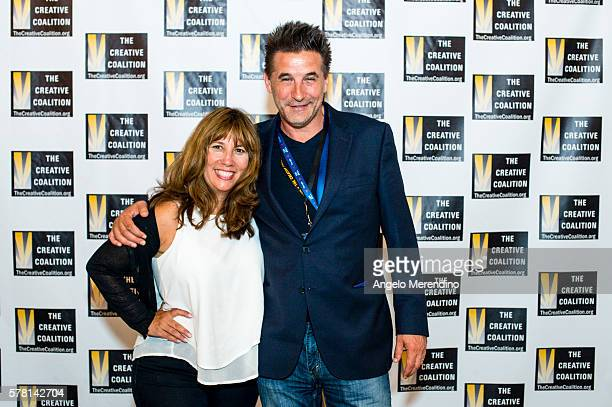 Robin Bronk and Billy Baldwin arrive at Music Box Supper Club on July 20 2016 in Cleveland Ohio