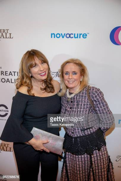 Robin Bronk and Congresswomen Debbie Dingell attend the Creative Coalition's Right To Bear Arts Gala Fundraiser on April 27 2018 in Washington DC