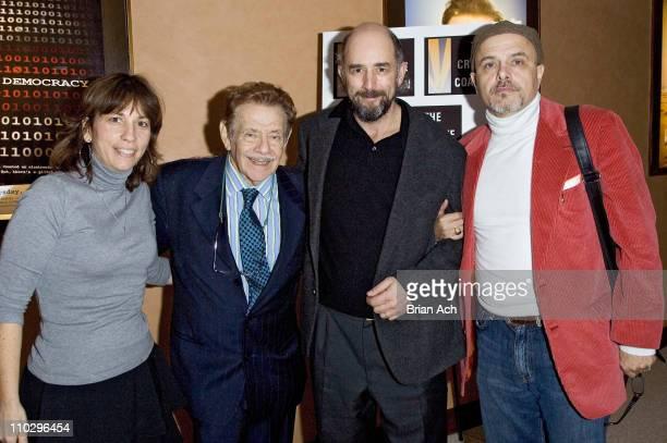 Robin Bronk Executive Director Creative Coalition Jerry Stiller Richard Schiff and Joe Pantoliano