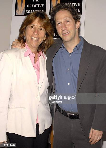 Robin Bronk Executive Director of the Creative Coalition and Tim Blake Nelson