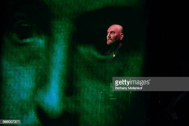 Robin Buck who plays Edgar in Tell Tale Heart is seen on stage in a dress rehearsal days before the shows premiere Long Beach Opera is really going...