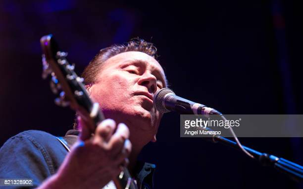 Robin Campbell of UB40 performs on stage at Noches del Botanico on July 23 2017 in Madrid Spain