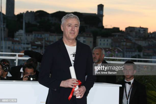 Robin Campillo winner of the Grand Prix for the movie '120 Beats Per Minute' attends the winners photocall during the 70th annual Cannes Film...