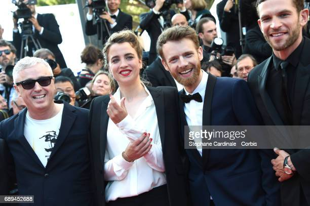 Robin CampilloAdele HaenelAntoine Reinartz and Arnaud Valois attend the Closing Ceremony during the 70th annual Cannes Film Festival at Palais des...
