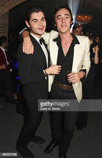 Robin Cavalli and Daniele Cavalli attend Eva Cavalli's birthday dinner party at One Mayfair on October 9 2015 in London England