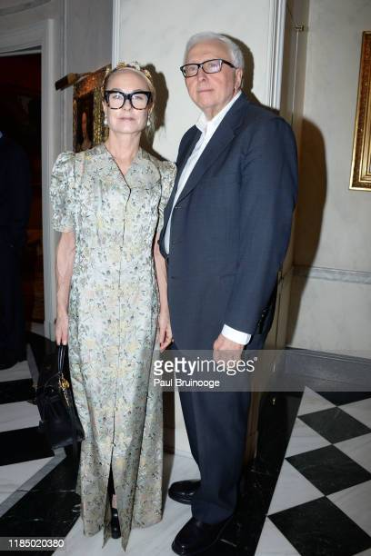 Robin Cofer and Dominic D'Alleva attend Martin And Jean Shafiroff's Thanksgiving Cocktails In Honor Of Mission Society Of NYC on November 26 2019 at...