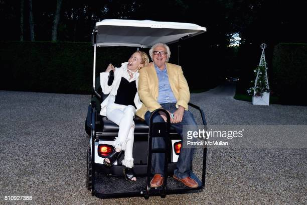 Robin Cofer and Dominick D'Alleva attend Katrina and Don Peebles Host NY Mission Society Summer Cocktails at Private Residence on July 7 2017 in...