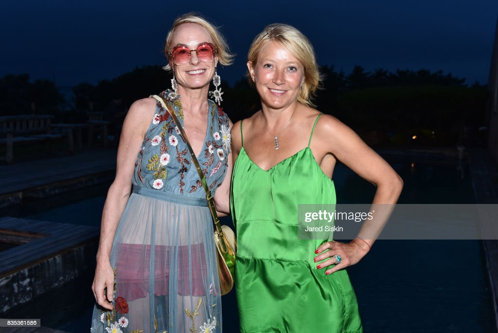 Robin Cofer and Janna Bullock attend ARTrageous Gala + Art Auction benefitting Hour Children at a Private Residence on August 18, 2017 in Southampton, New York.