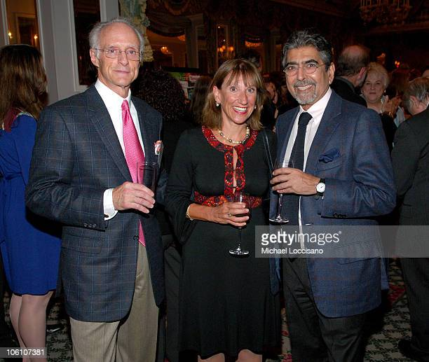 Robin Cook Marie Campbell and Sonny Mehta during Bookspan's Literary Cocktail Event of the Season Hosted by Markus Wilhelm at The Pierre Hotel in New...