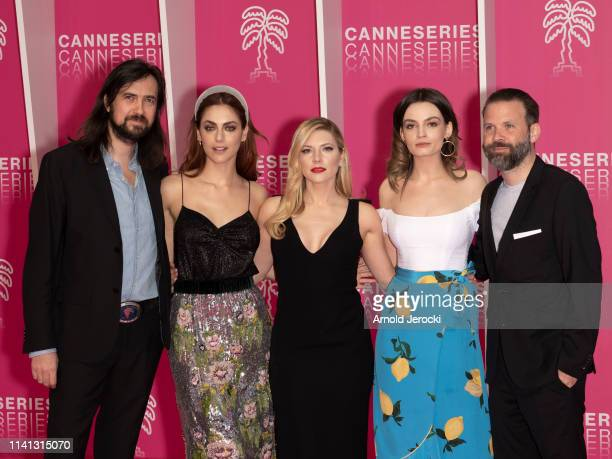 Robin Coudert, Miriam Leone, Katheryn Winnick, Emma Mackey and Baran Bo Odar attend day four of the 2nd Canneseries International Series Festival, on...