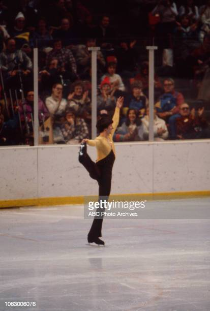 Robin Cousins competing in the Men's figure skating event at the 1980 Winter Olympics / XIII Olympic Winter Games Olympic Center