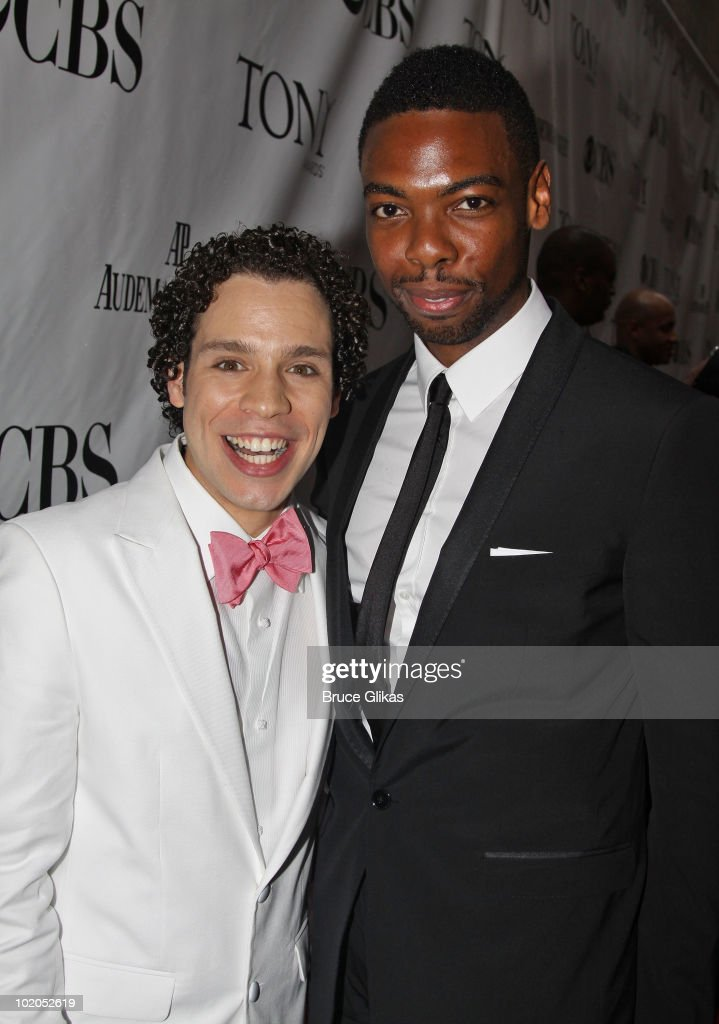 Robin de Jesus and Michael Benjamin Washington attends the 64th Annual Tony Awards at Radio City Music Hall on June 13, 2010 in New York City.