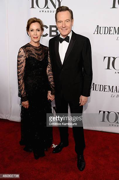 Robin Dearden and actor Bryan Cranston attend the 68th Annual Tony Awards at Radio City Music Hall on June 8 2014 in New York City