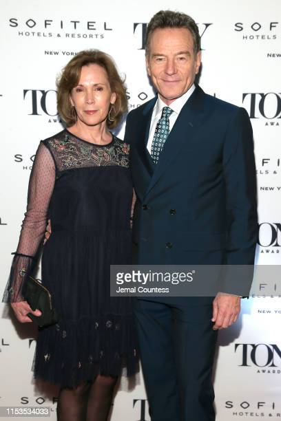 Robin Dearden and Bryan Cranston attend the Tony Honors Cocktail Party Presenting The 2019 Tony Honors For Excellence In The Theatre And Honoring The...