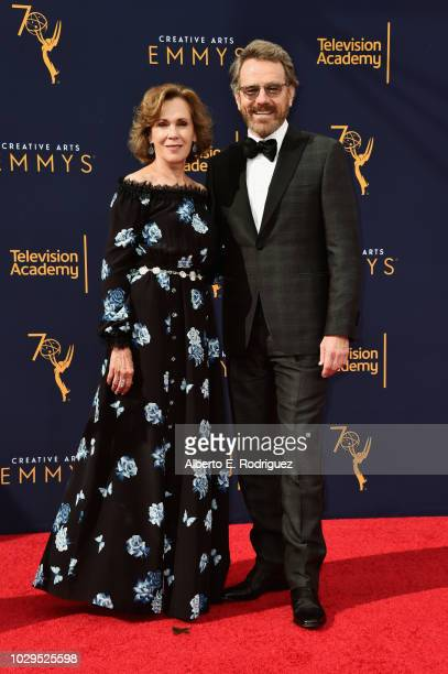 Robin Dearden and Bryan Cranston attends the 2018 Creative Arts Emmy Awards at Microsoft Theater on September 8 2018 in Los Angeles California