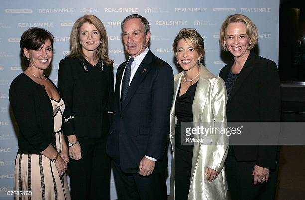 Robin Domeniconi president of Real Simple Caroline Kennedy New York City Mayor Michael Bloomberg Pamela Liebman president/CEO The Corcoran Group and...