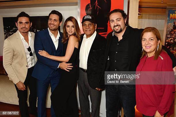 Robin Duran Edgar Ramirez Ana de Armas Roberto Duran director Jonathan Jakubowicz and Felicidad Duran Iglesias attend The Weinstein Company's HANDS...