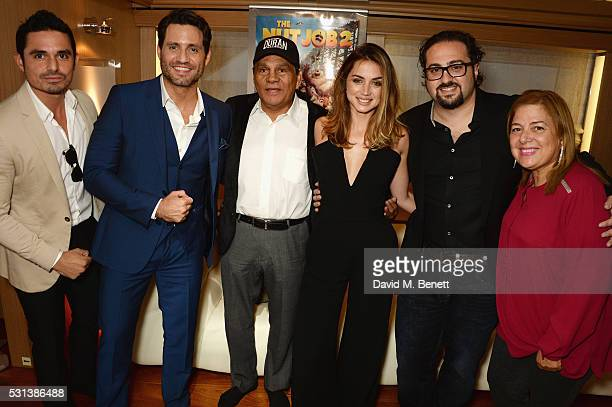 Robin Duran Edgar Ramirez Roberto Duran Ana de Armas director Jonathan Jakubowicz and Felicidad Duran Iglesias attend The Weinstein Company's HANDS...