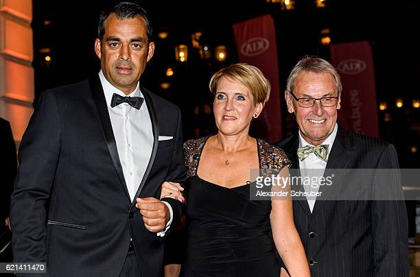 Robin Dutt with his wife Daniela Dutt and Joerg Wontorra during the German Sports Media Ball at Alte Oper on November 5 2016 in Frankfurt am Main...