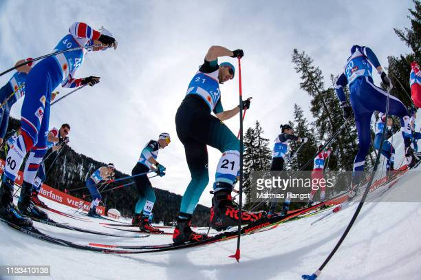 Robin Duvillars of France competes in the Men's Cross Country 50k race during the FIS Nordic World Ski Championships on March 03 2019 in Seefeld...