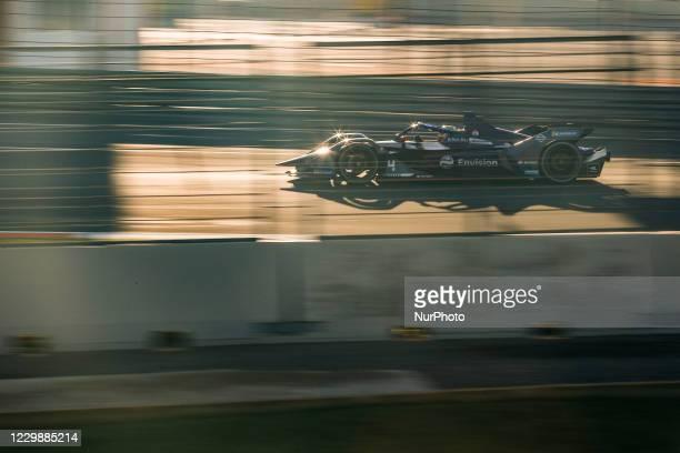 Robin , Envision Virgin Racing, Audi e-tron FE07, action during the ABB Formula E Championship official pre-season test at Circuit Ricardo Tormo in...