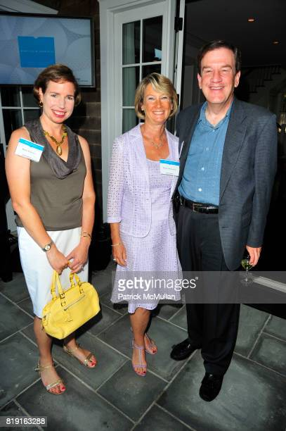Robin Forester Bonnie Krentzman and Stewart Krentzman attend Summer Reception in Southampton for New YorkPresbyterian Hospital hosted by Heather and...