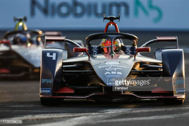 Robin Frijns Envision Virgin Racing Audi etron FE05 drives at Autodromo Hermanos Rodriguez during the 2019 Mexico City EPrix in Mexico City Mexico