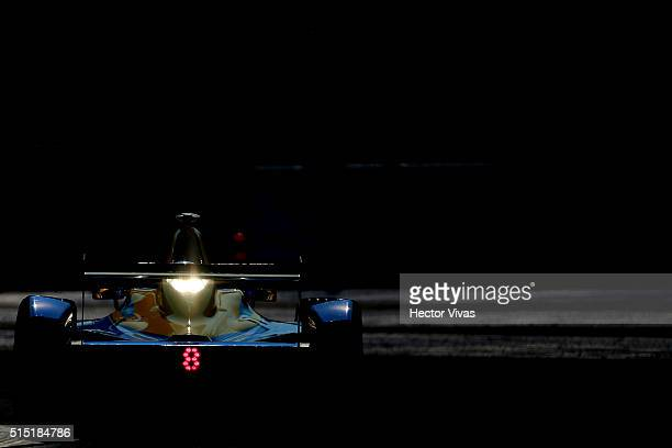 Robin Frijns of Netherlands and Andretti Formula E Race Team competes during the Mexico City Formula E Championship 2016 at Autodromo Hermanos...