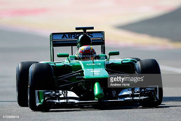 Robin Frijns of The Netherlands and Caterham drives during day one of Formula One Winter Testing at the Bahrain International Circuit on February 19,...