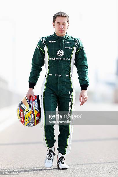 Robin Frijns of The Netherlands and Caterham poses for a photograph during day two of Formula One Winter Testing at the Bahrain International Circuit...