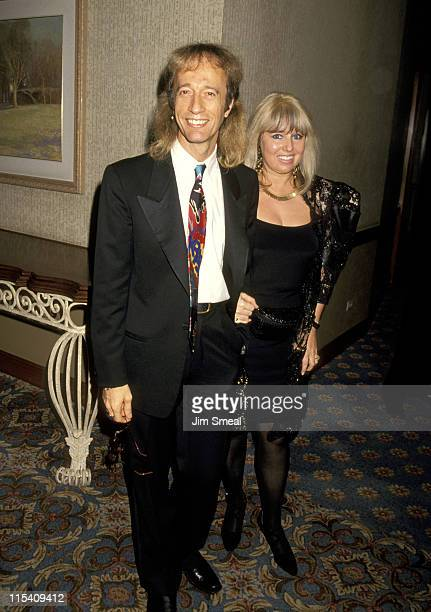 Robin Gibb and Wife Dwina Murphy-Gibb during 25th Annual Songwriters Hall of Fame Awards Dinner and Ceremony at Sheraton Hotel in New York, New York,...