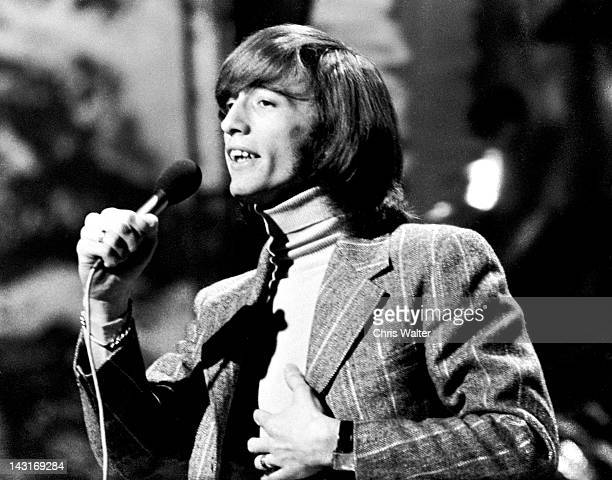 Robin Gibb of the Bee Gees performs live on Top Of The Pops in the 1970s