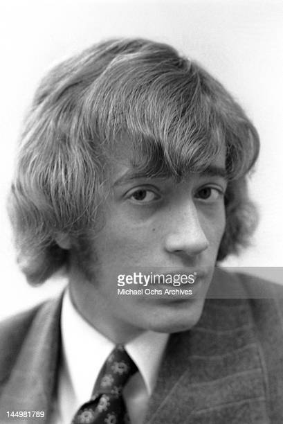 Robin Gibb of the pop group The Bee Gees poses for a portrait on January 26 1968 in Los Angeles California