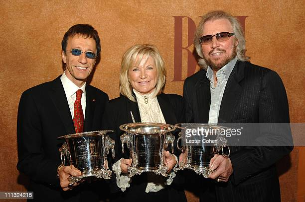 Robin Gibb Yvonne Gibb and Barry Gibb