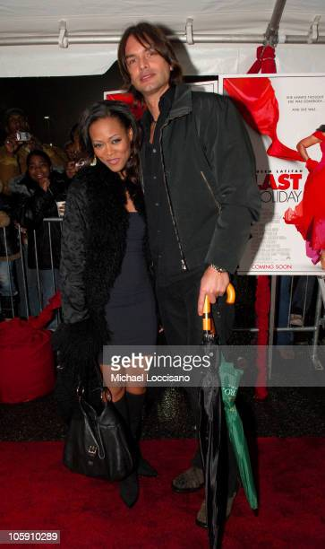 Robin Givens and Marcus Schenkenberg during Last Holiday New Jersey Premiere at Newark Screens on Springfield in Newark New Jersey United States